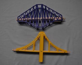 "Two Bridges for wooden train set - Approx 14"" Long & 1"" across"