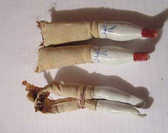 1920's Porcelain Leg and Arm Set