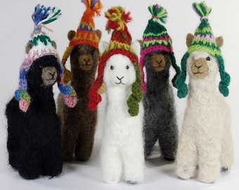 Needle Felted Alpaca Sculptures: Felted Animals by Hand in Alpaca Fiber