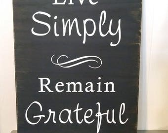 Live Simply - handmade wooden sign