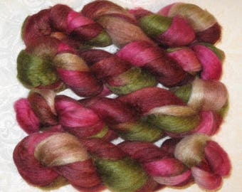 Handpainted Rovings -- BFL Wool and Silk