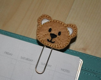 Teddy Felt Planner Clip - Paper Clip - Bookmark