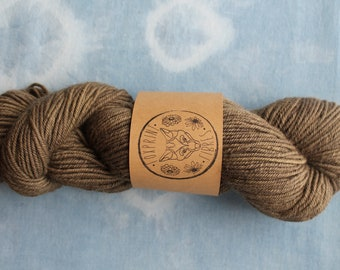 Bluefaced Leicester Light Worsted Weight Yarn Plant Dyed with Sumac