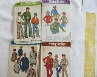 Four Vintage Boys Sewing Patterns
