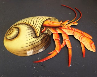 Hermit Crab Metal Wall Art  (EA)