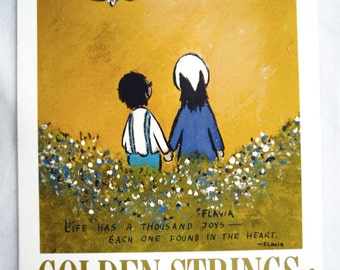 Vintage 1975 2014 Flavia Golden Strings Calendar