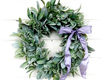Lambs Ear Wreath Etsy