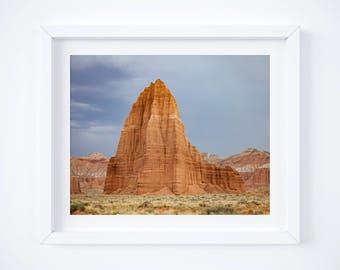 Desert wall art -  Utah desert photograph - Landscape print - Nature photo print - Large wall decor - Framed art - Earth tones - Red rocks