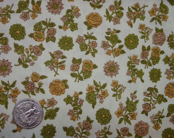 """Vintage Fabric Cotton Pretty Small Floral Print, 34"""" Wide 1 Yard 9"""" Quilting +"""