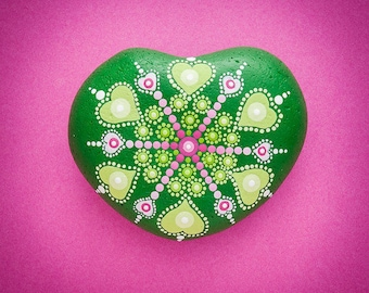 Sacred Mandala Blessing Stone 'You are so loved'