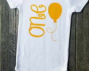 One Year Old Girl Birthday Outfit, 1 Year Old, Girl First Birthday Outfit, 1st Birthday Shirt, Yellow 1st Birthday Girl Outfit, ©Liv & Co.™