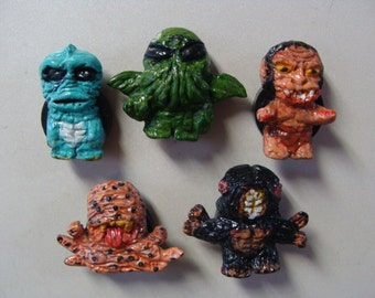 H.P. Lovecraft Monsters  Magnet Set (Cutie Style/fullbody) Made in Japan by Yokai-John For Mod World