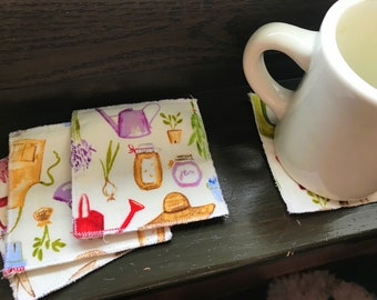 Fabric Garden Coasters