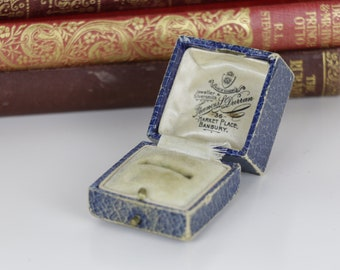 Antique Ring Box Engagement or Wedding Ring Box - Francis L Durran