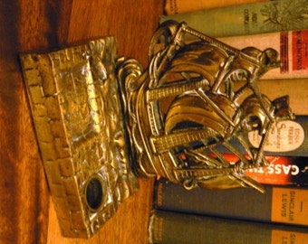 vintage office ...   Tall Ship Galleon MAYFLOWER INKWELL BRASS with ink pot ink well ...