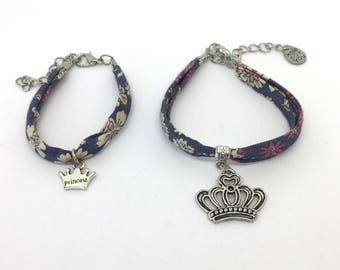 CROWN mother and daughter matching bracelets