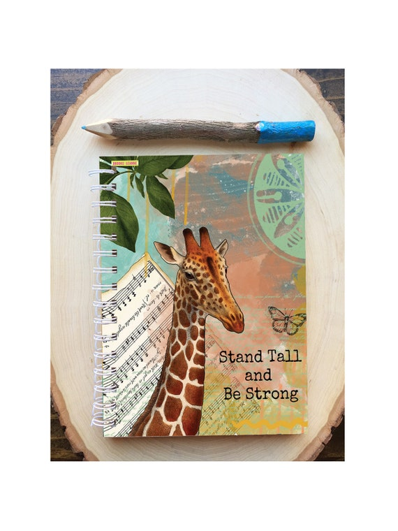 Giraffe Spiral Bound Notebook - Stand Tall Giraffe notebook - Hard Notebook - Spiral Journal - Back to School - Gift - Journal