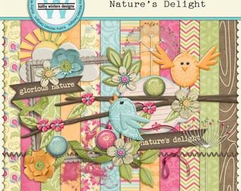 Digital Scrapbook Nature's Delight Kit