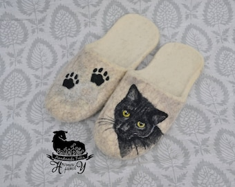 y Felted Slippers handmade  slippers for man Felted Slippers for woman Gift for her