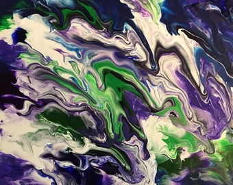 Wax Rain - Abstract Acrylic Fluid Painting by ModernbyMykel