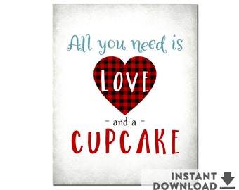 Baby Shower Cupcake Sign Sweetheart Valentine Baby Shower Heart Baby Shower Decorations Boy Printable (INSTANT DOWNLOAD) No.1071BABY