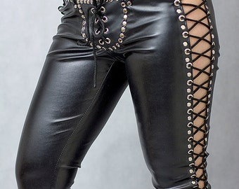 Laceup pants - made to order.