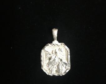 Sterling Silver Unicorn .925 Handmade Pendant 14 mm (1.4 cm) 1.7 Grams
