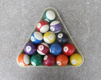 Vintage Billiard Pool Balls Complete Set