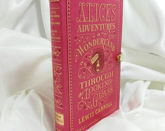 Book Clutch Purse - Alice's Adventures in Wonderland