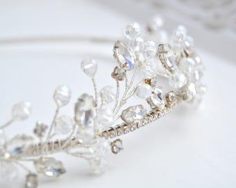 Bridal tiara Wedding tiara Bridal headpiece Wedding headpiece Wedding crown Bridal headband Bridal crown Diadem Crystal Bridal hair piece