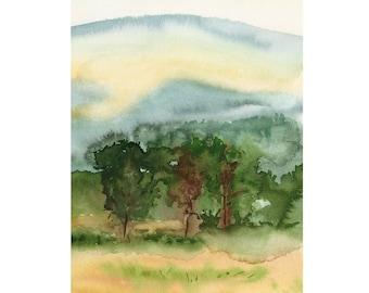 September Trees Donegal Ireland Original Watercolor Painting