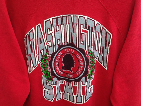 Big Sweatshirts Large State Sweater Washington Vintage 80s Out Size University Logo Spell CqaOnXwU