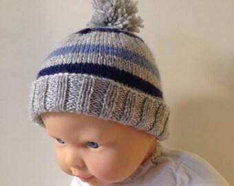 Merino 4 ply Babies Hat