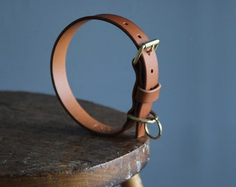 Leather dog collar with free personalisation