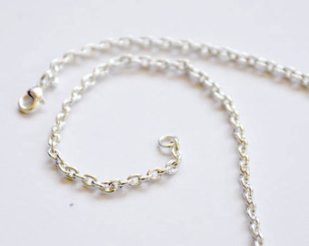 Add a Chain - Silver-finished steel chain - 5x3.5mm