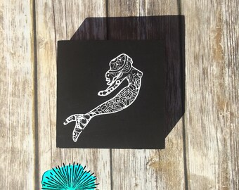 Mermaid block sign