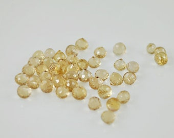 15 Champagne Citrine Onion Cut stones 5-6mm (Cit-001)
