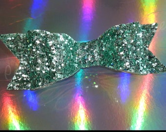 Glitter Double Stack Bow (mint)