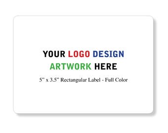 """Custom Professional Company Business Logo Design Labels Stickers 5""""x3.5"""" inches"""