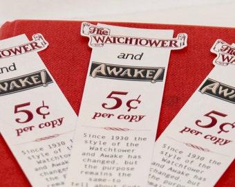 Set of 3 Bookmarks -  1930 Replica Bookmark - Jw pioneer gifts - Jw Pioneer School gifts - Jw pioneer school - Jw Pioneer gifts
