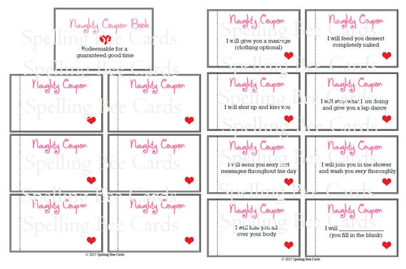 coupon book for your boyfriend