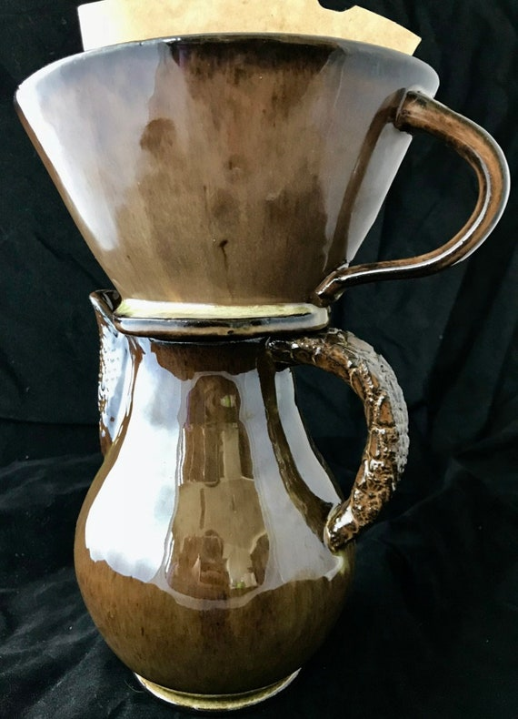 Ceramic Coffee Dripper and pitcher set