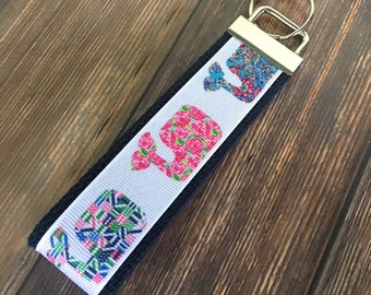 Lilly Inspired Whale Key Fob Wristlet / Key Chain