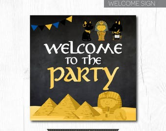 Egypt Welcome Sign, Egyptian Birthday Party, Adventure Birthday Party, Printable Sign, Instant Download