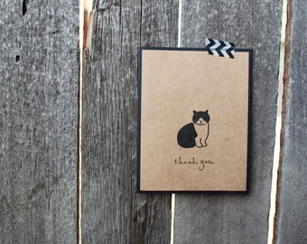 Cat Thank You Card, Cat Thank You Card Set, Cat Cards, Thank You Card Set, Handmade Thank You cards, Handmade Cat Cards, Cute Thank You Set