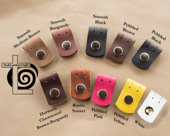 Leather Cord Cable Earbud Holder Small And Light Cable Or