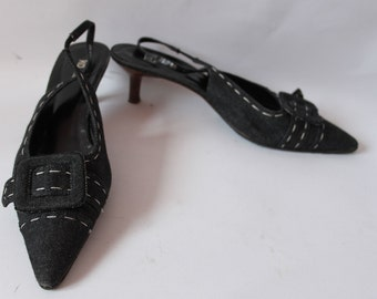 50s style kitten heel shoe  Reduced size uk 6/39