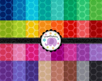 Bright Spotty Digital Scrapbook Paper, Dotty digital paper, Dotty Digital Background, Digital Paper Pack, Commercial Use