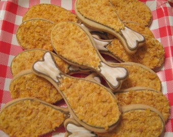 Fried Chicken Drumsticks - sugar cookies