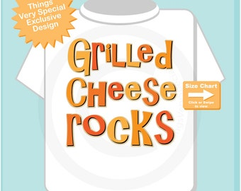 Boy's Grilled Cheese Rocks Shirt or Onesie for the Grilled Cheese Sandwich Lover 10302014a